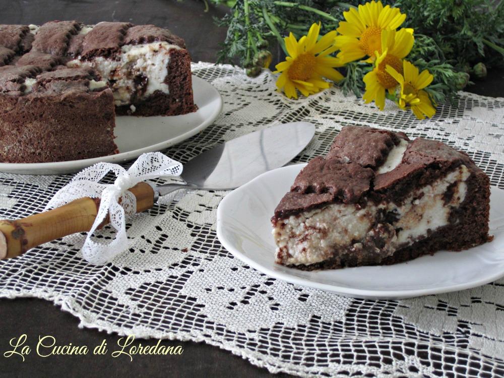 crostata al cioccolato e ricotta