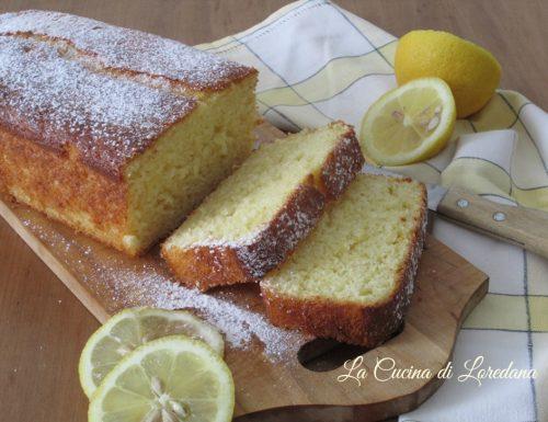 Plumcake soffice al limone