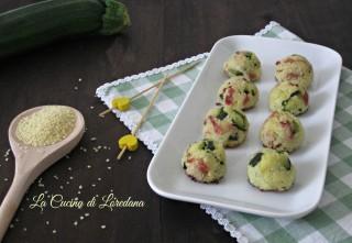 polpette con zucchine e speck