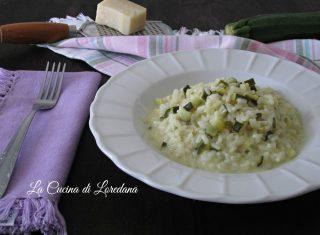 risotto zucchine e crescenza