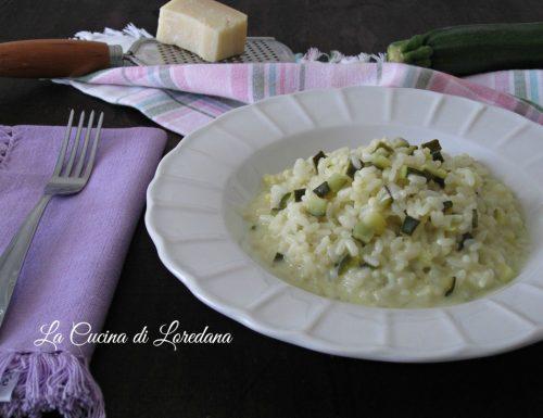 Risotto con zucchine e crescenza