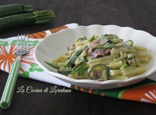 pasta con le zucchine e speck