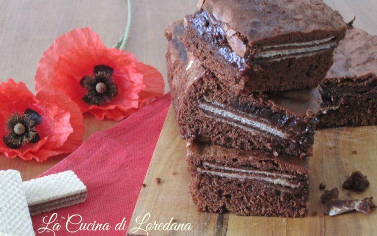 Torta cioccolato e wafer