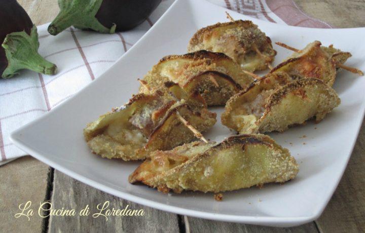 Melanzane impanate con salsiccia e formaggio