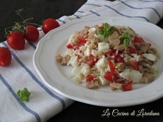 ricetta insalata di riso con pomodoro e mozzarella