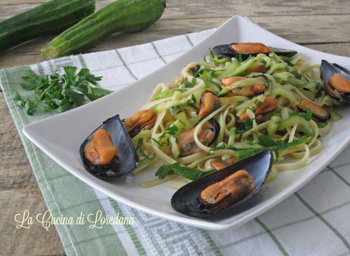 pasta cozze e zucchine
