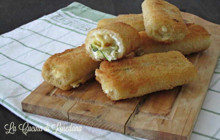 Rotolini sfiziosi con zucchine