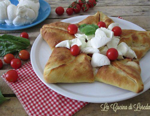 Stella di pizza con mozzarella