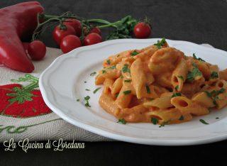 pasta con crema di peperone