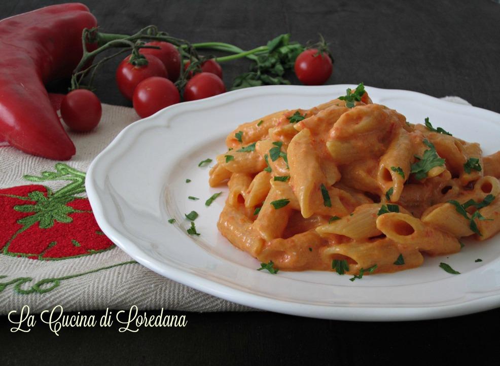 Pasta con crema di peperone la cucina di loredana - La cucina di loredana ...