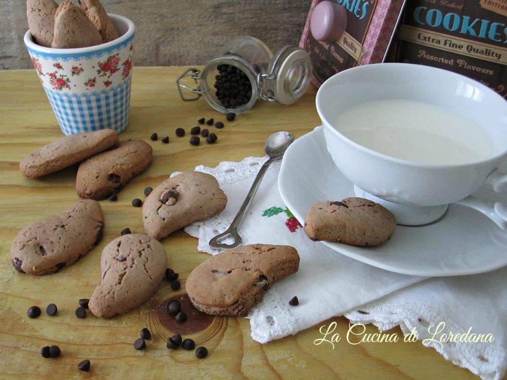 Biscotti con cioccolato la cucina di loredana - Cucina con loredana ...