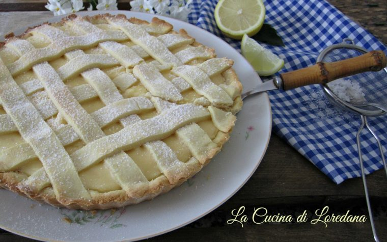 Crostata al limone con farina di riso