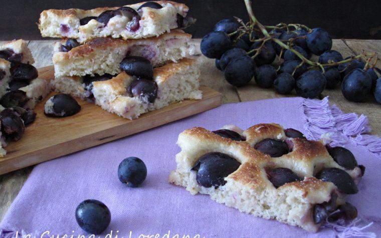 Focaccia con uva