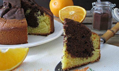 Torta soffice arancia e cioccolato