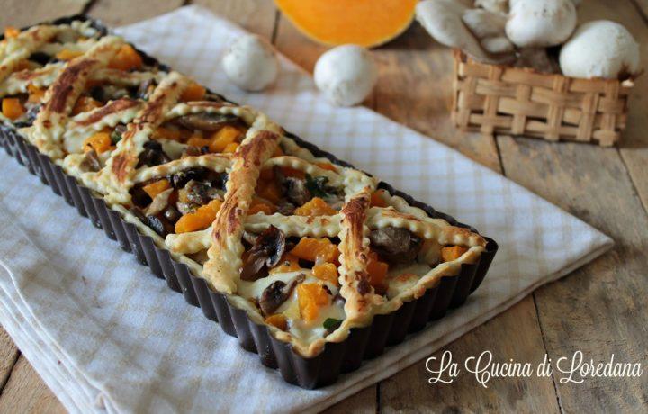 Torta salata zucca e funghi