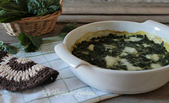 Spinaci al forno con besciamella