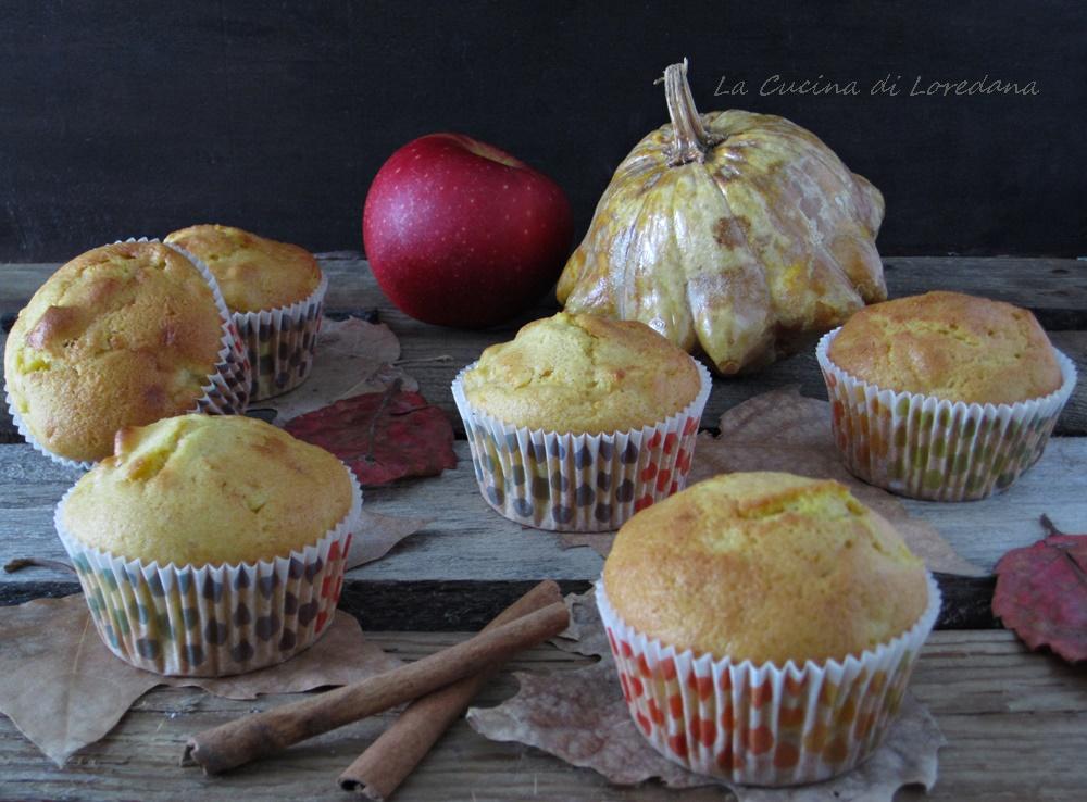 muffin alla zucca e mele