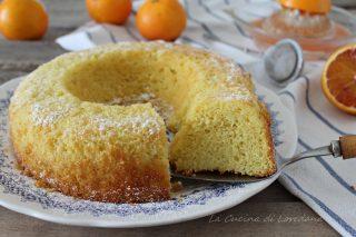 ciambella all'arancia con farina di riso
