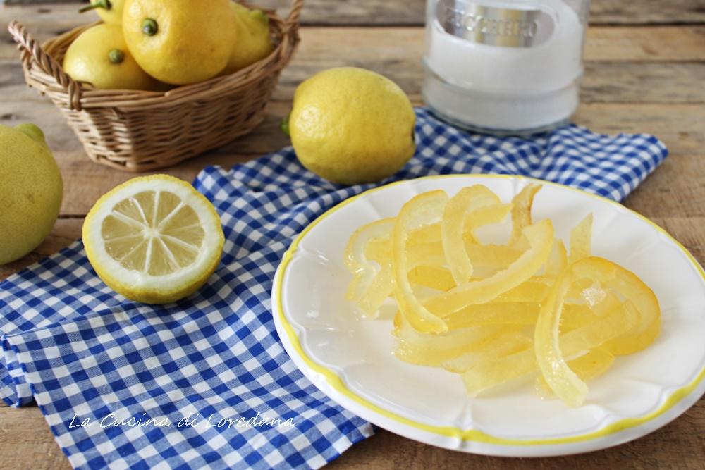 scorze di limone candite