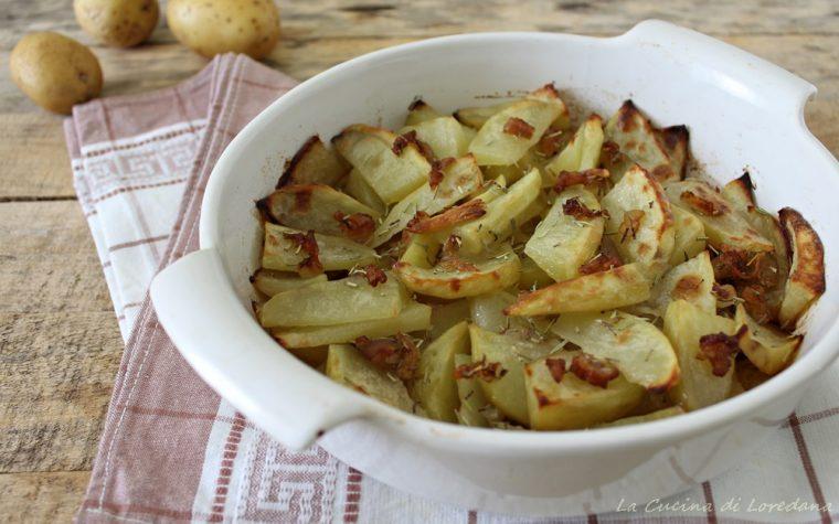 Patate con lardo al forno