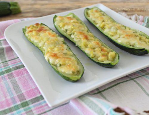Zucchine ripiene con mozzarella