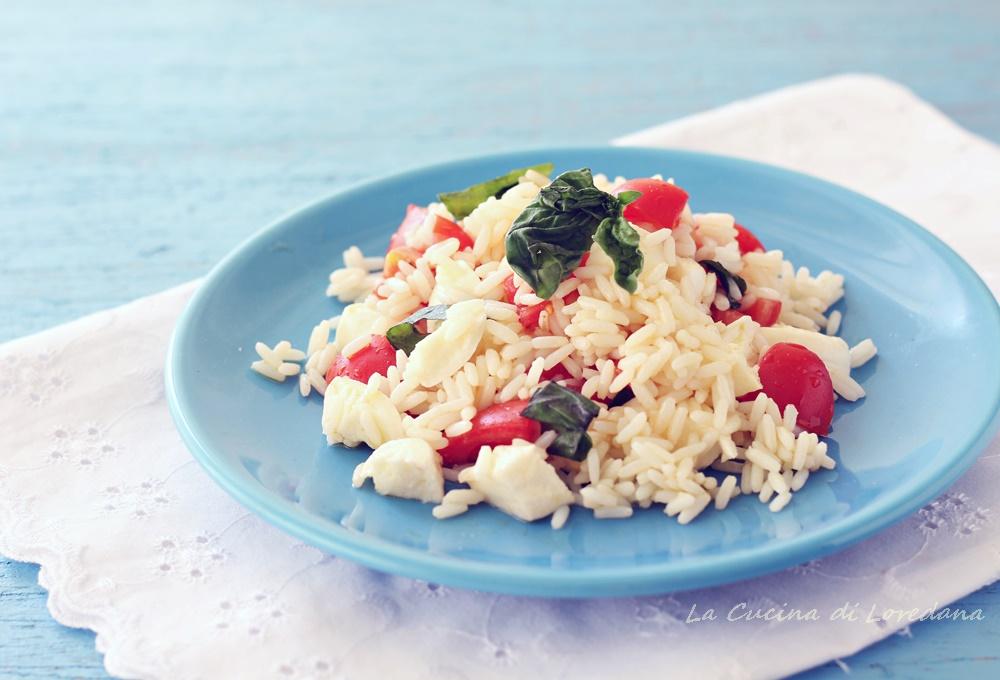 insalata di riso caprese