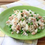 Insalata di riso con tonno e piselli