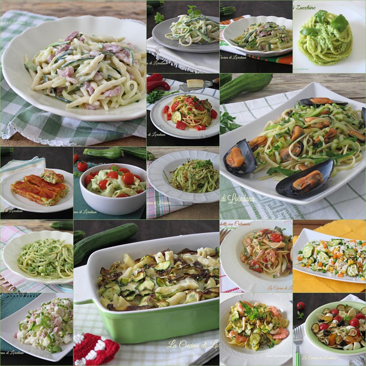 primi piatti con le zucchine