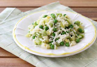 riso freddo con zucchine e piselli