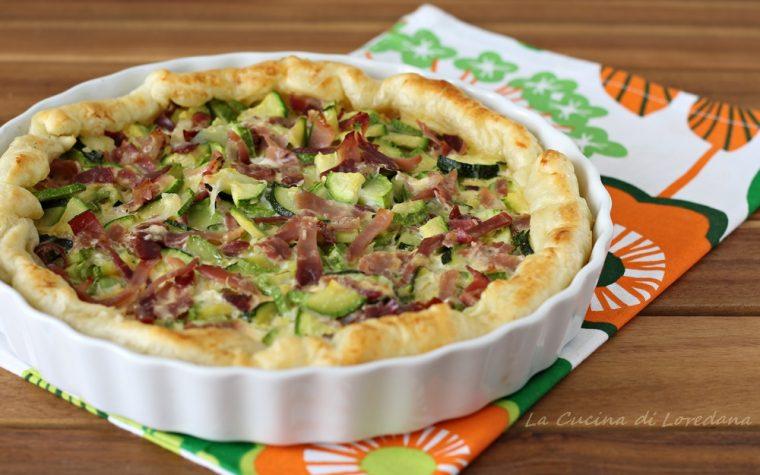 Torta salata con zucchine e speck