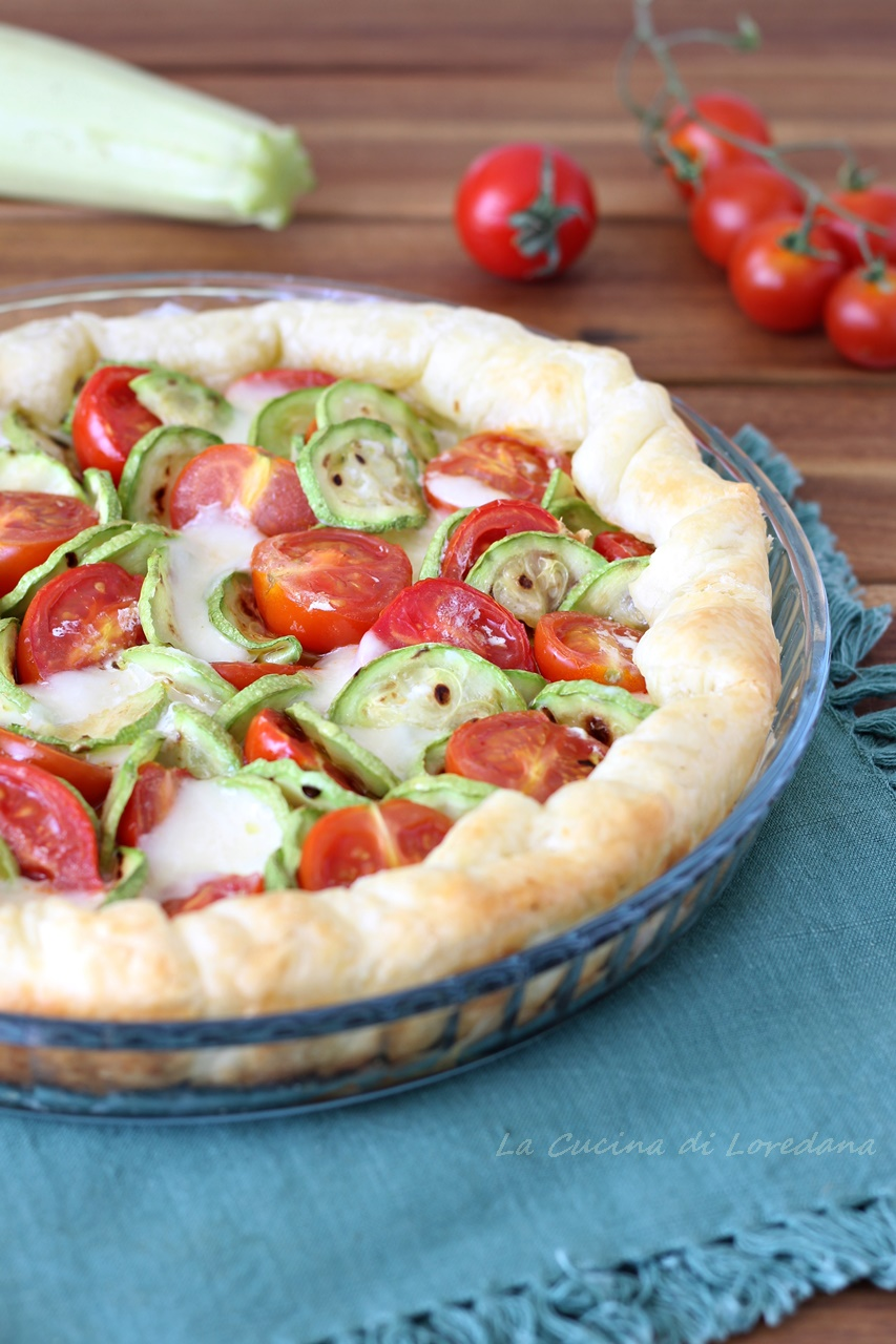 torta salata zucchine e pomodorini