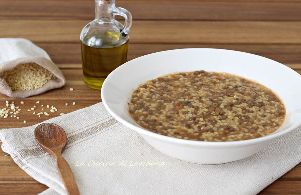 Fregola con lenticchie una minestra calda e confortante - Lenticchie a bagno ...