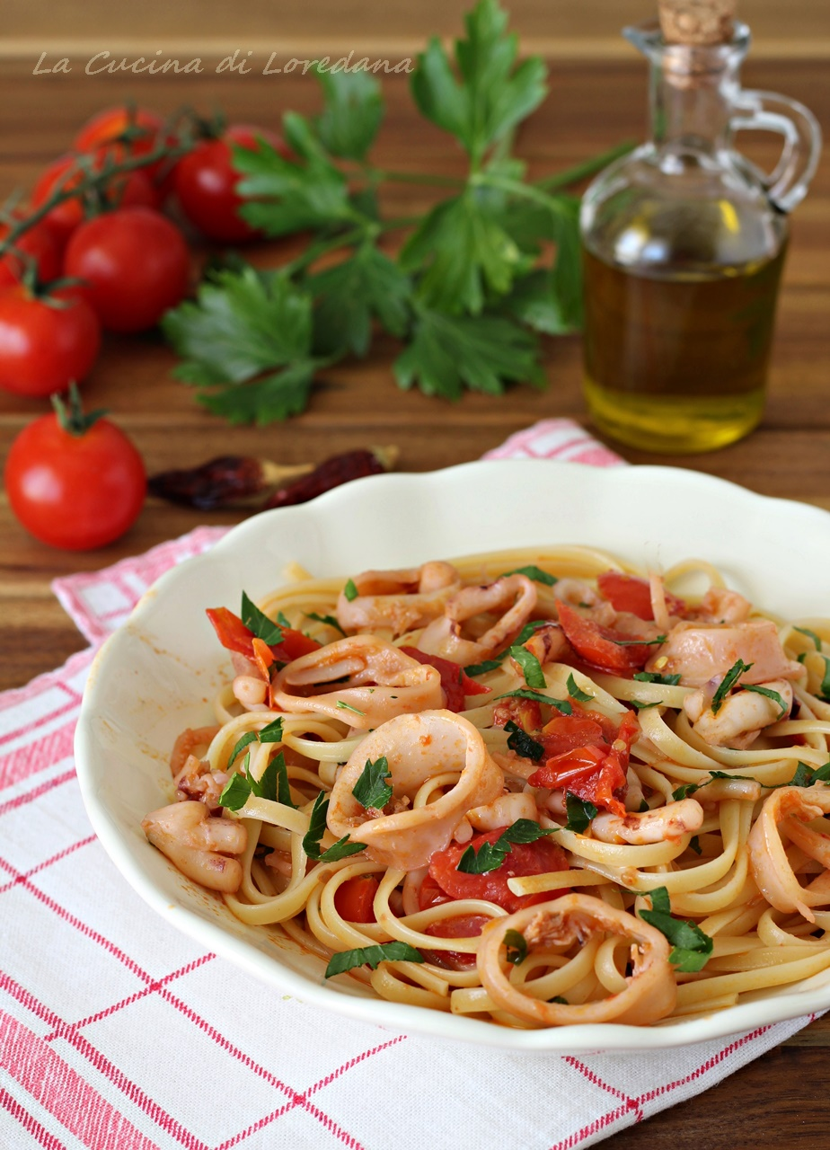 Pasta con calamari la cucina di loredana - Cucina con loredana ...