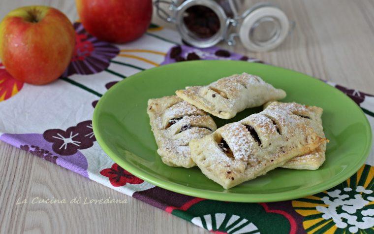 Sfogliatine con mele e cioccolato