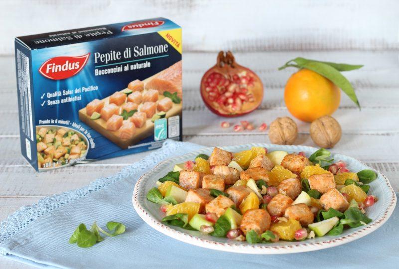 insalata di valeriana con salmone