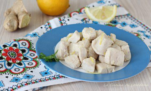 Bocconcini di pollo allo zenzero e limone