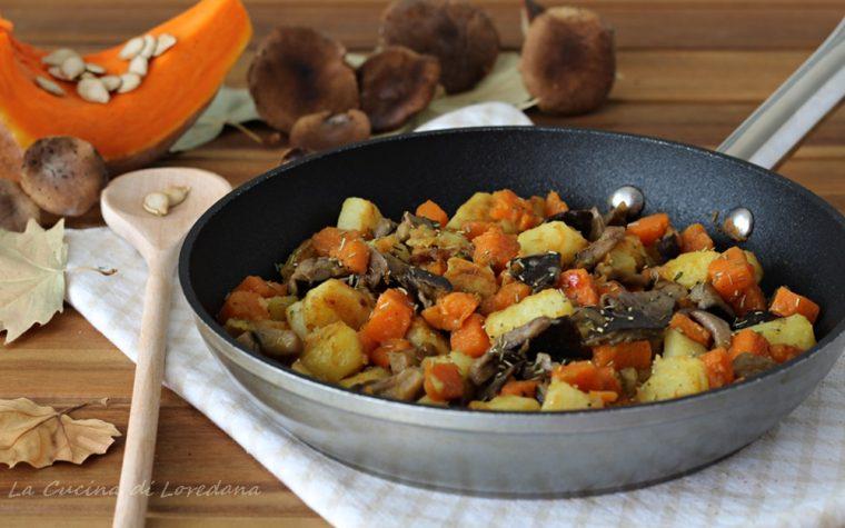 Zucca e patate in padella
