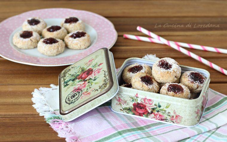 Biscotti integrali con confettura