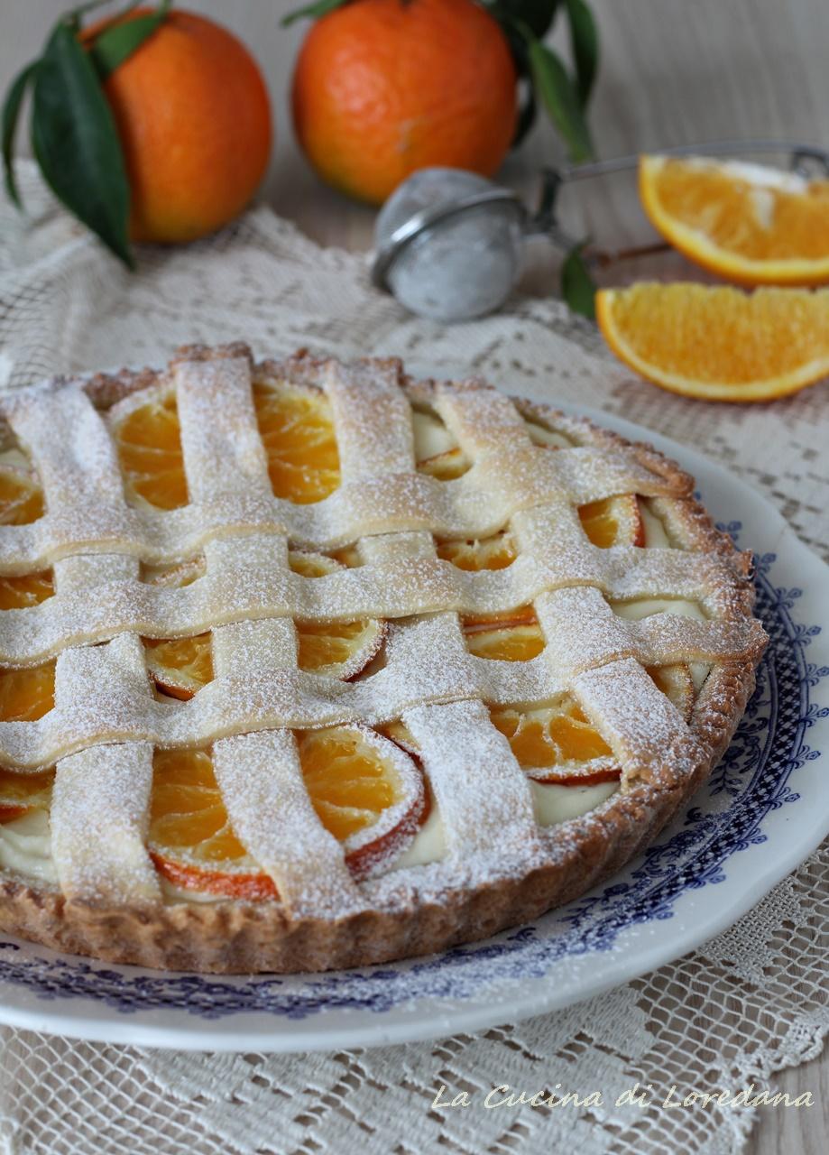 crostata con arance e ricotta