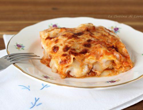 Lasagne al forno con besciamella e ragù