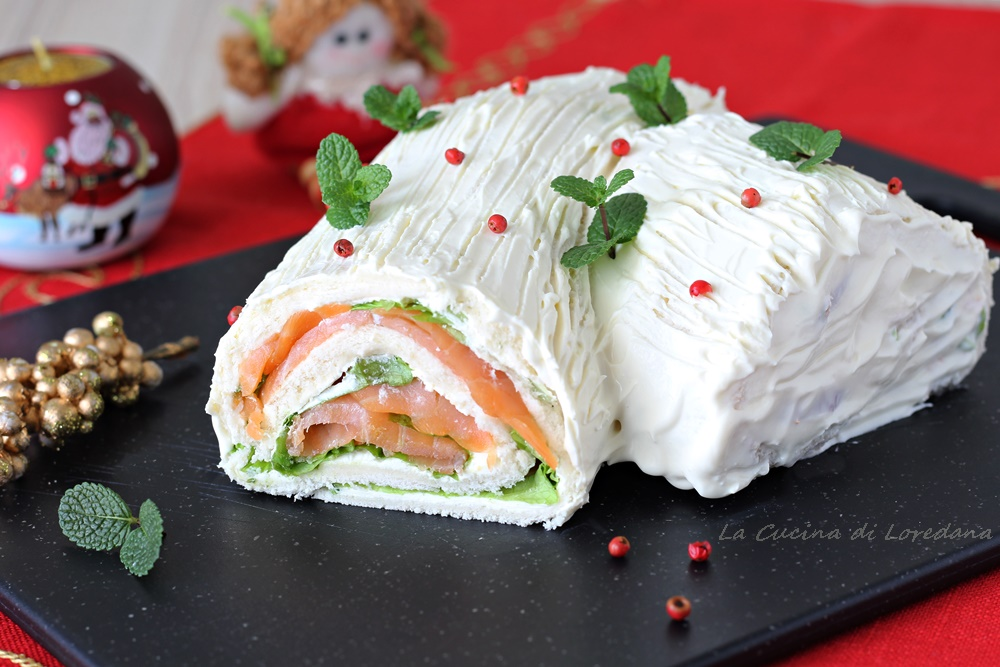 Ricetta Tronchetto Di Natale Salato.Tronchetto Salato Al Salmone Una Sfiziosa E Buonissima Idea