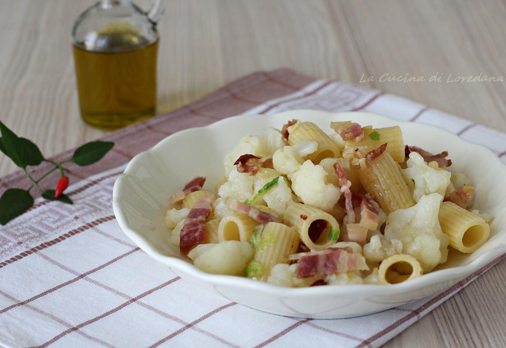 pasta con cavolfiore e pancetta