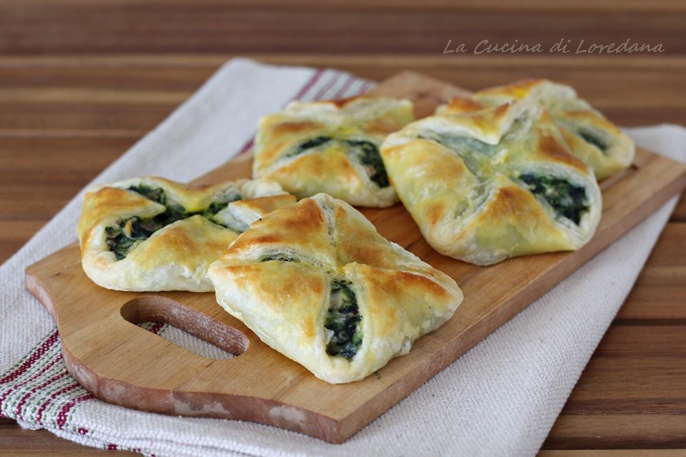 sfogliatine spinaci e prosciutto