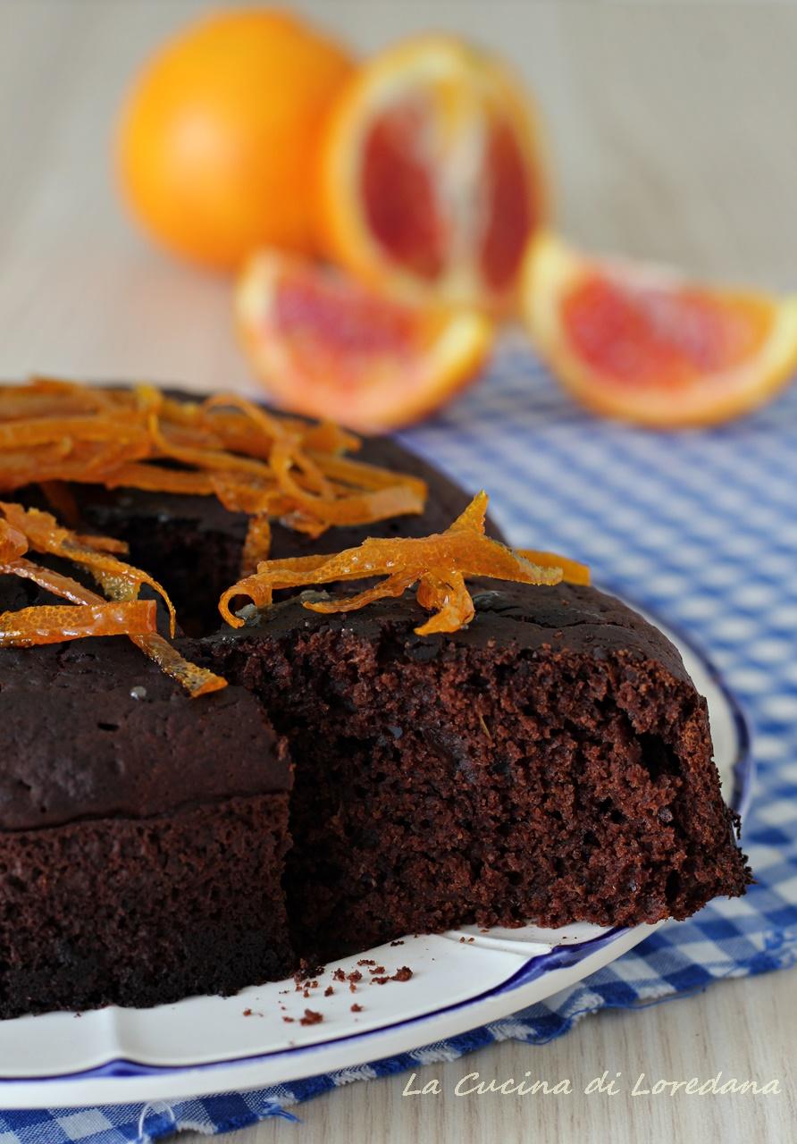 torta al cioccolato e arance rosse