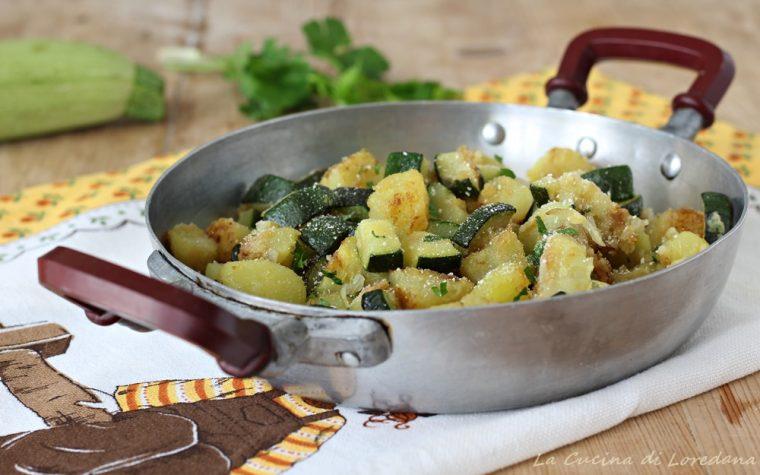 Zucchine e patate in padella