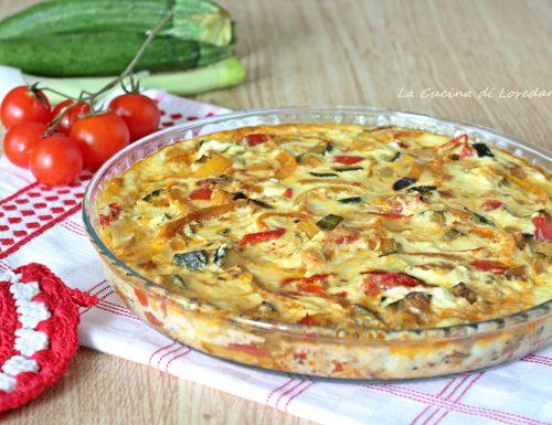 Frittata con verdure al forno