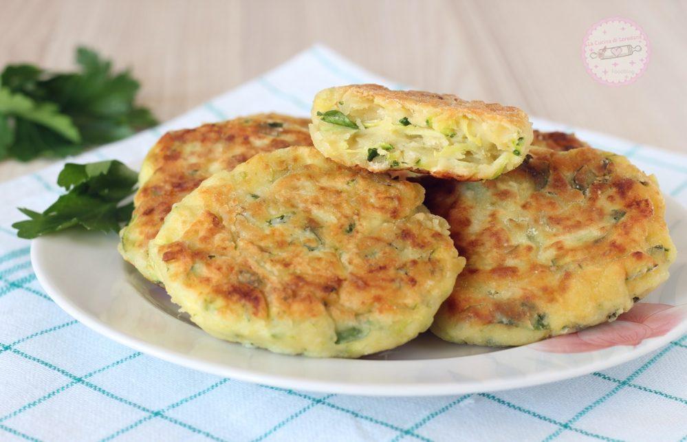 frittelle zucchine e ricotta
