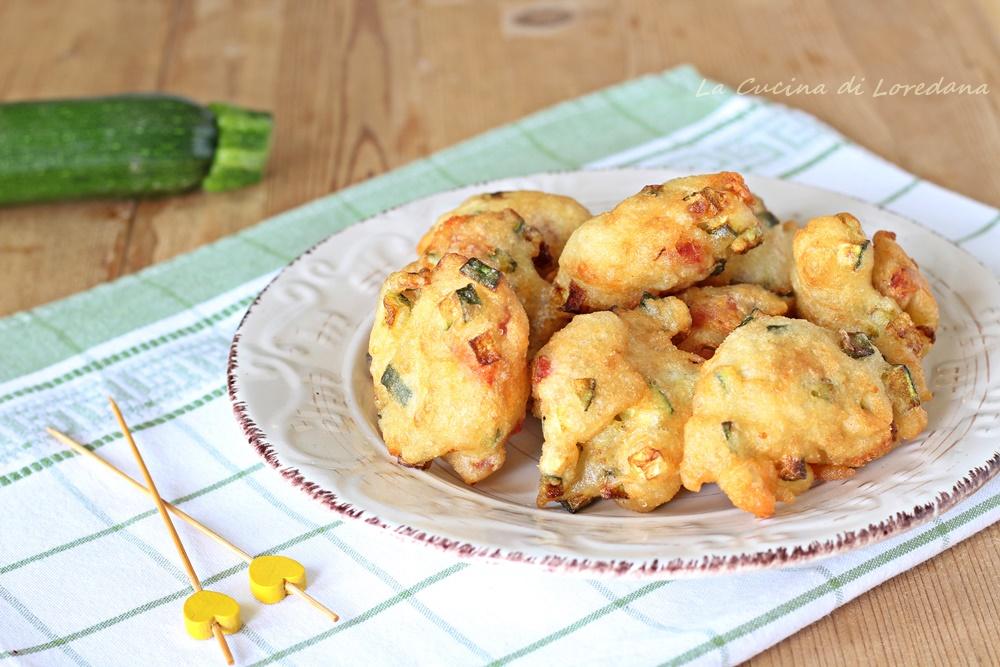 frittelle zucchine e speck