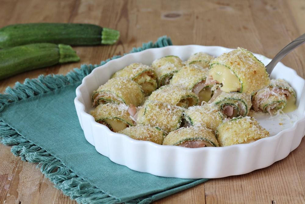 rotolini di zucchine al forno