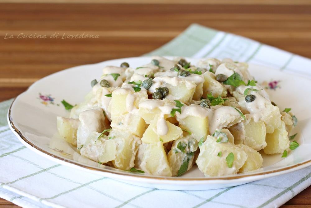 insalata di patate con salsa tonnata
